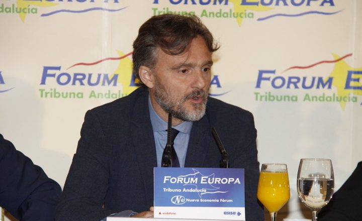 Representantes de Ansemac, acuden al Desayuno informativo del Fórum Tribuna Andalucía, organizada por Nueva Economía Fórum y la participación del Consejero de Medio Ambiente y Ordenación del Territorio de la Junta de Andalucía.