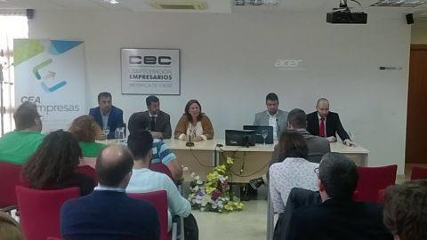 Esperanza Fitz Luna, Presidenta de Ansemac, participa como ponente en la Jornada celebrada en la Confederación de Empresarios de Cádiz, sobre el Sector Medioambiental como oportunidad para emprender.