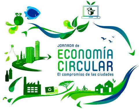 """Presentación """"Jornada de Economía Circular: El Compromiso de las Ciudades"""", asistiendo Esperanza Fitz como Presidenta de Ansemac."""