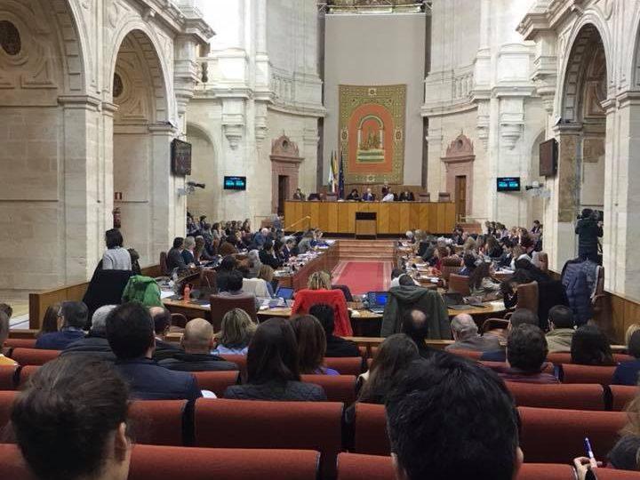 ANSEMAC presente esta mañana en sesión plenaria donde la presidenta de la Junta de ANDALUCIA,Susana Diaz,se somete en la sesión de control a las preguntas de la oposición.