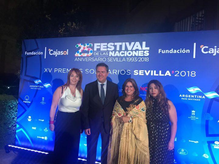 ANSEMAC invitada a la Entrega de los XV Premios Solidarios del Festival de las Naciones de Sevilla