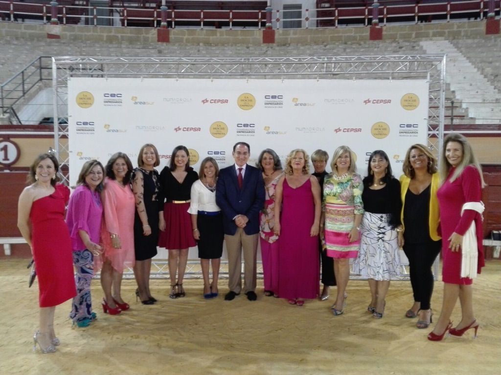 Esperanza Fitz Luna acude, junto a otras dirigentes empresariales, a la NOCHE DE LA EMPRESA 2017, organizada por la Confederación de Empresarios de la provincia de Cádiz ( CEC ).