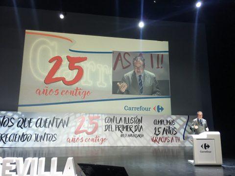 Ansemac invitada al acto de celebración del 25 aniversario de la apertura de Carrefour Macarena, establecimiento ecoeficiente.