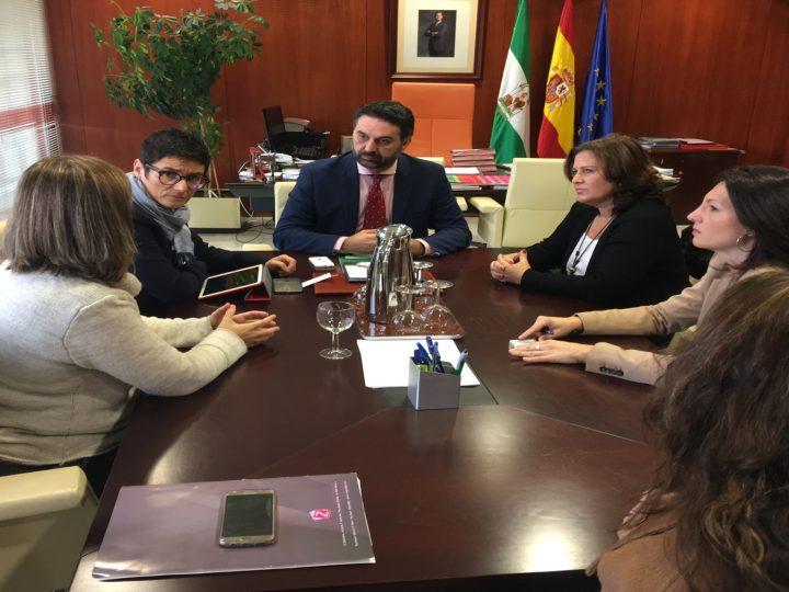 Reunión del Consejero de Turismo de la Junta de Andalucía, con representantes de Ansemac.