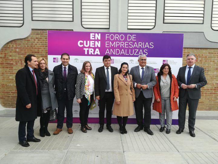 Esperanza Fitz, Presidenta de ANSEMAC, acompaña en la mañana de hoy a las Empresarias de Huelva, en el Foro de Empresarias Andaluzas Encuentra, iniciativa promovida por el Instituto Andaluz de la Mujer(IAM)y la fundación Andalucía Emprende.