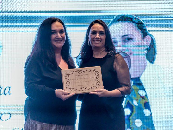 La vicepresidenta de Ansemac, Victoria Cabrera, Premio TOP10 Pyrsel